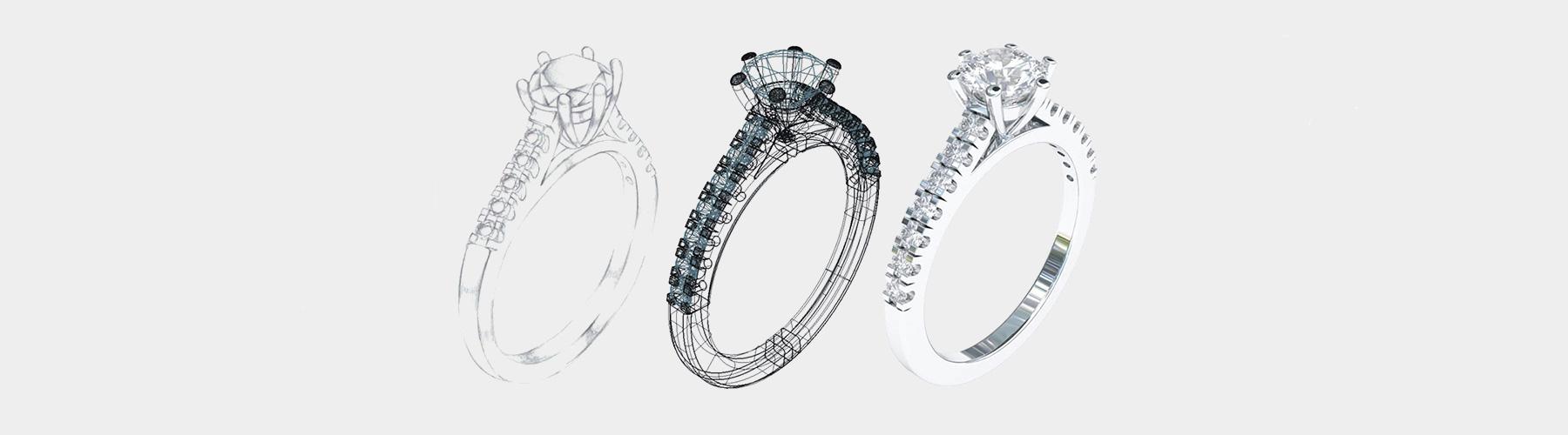 diamond ring design sketch